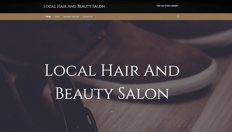 Hairdressers demo website