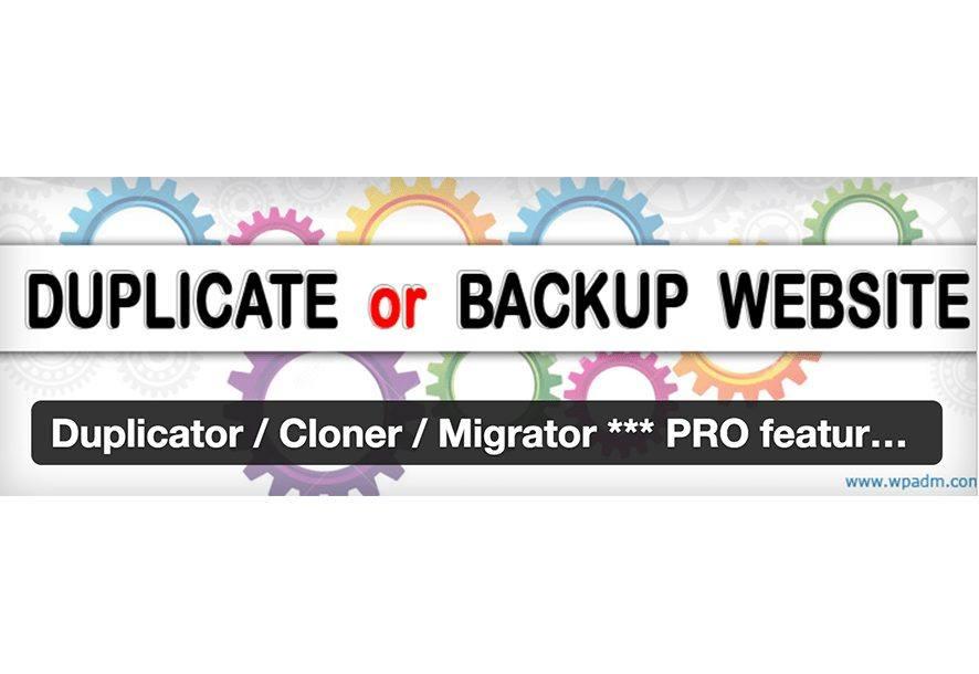 Duplicator Cloner Migrator