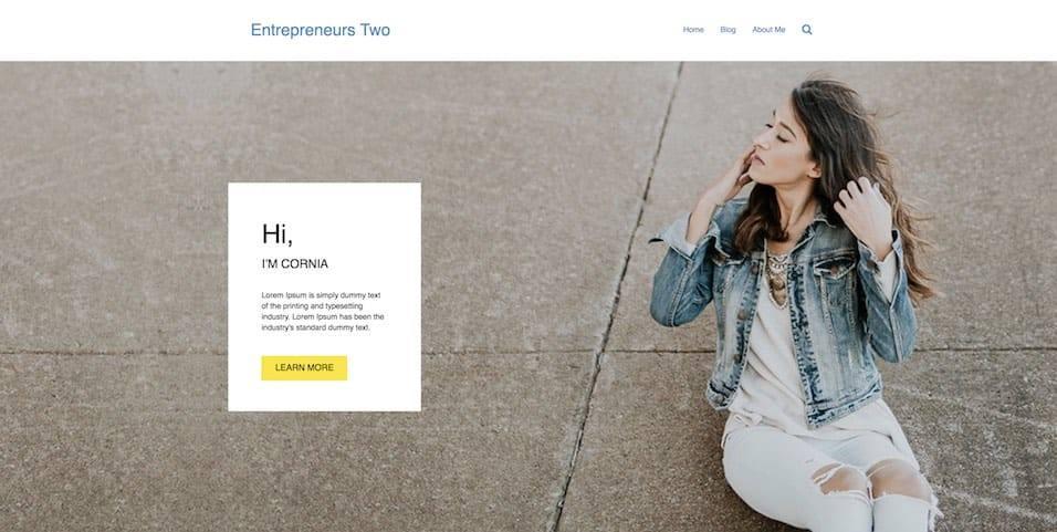 entrepreneurs website demo two