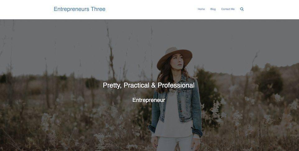 entreprenuers website demo three