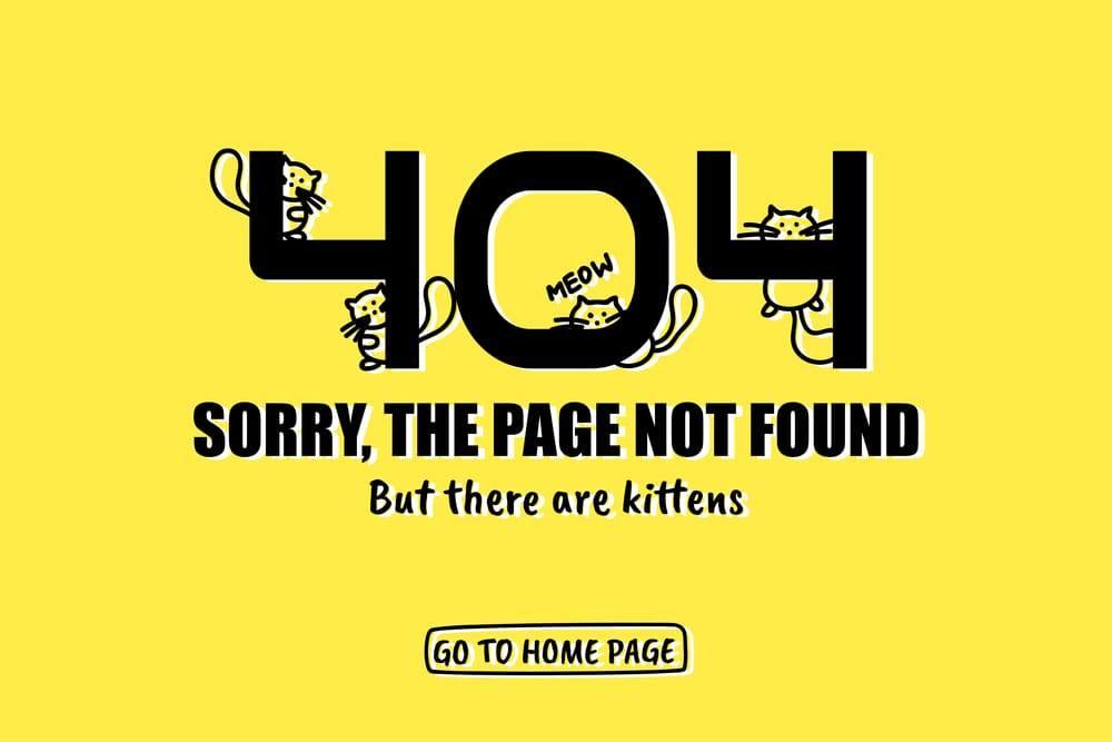 error 404 page